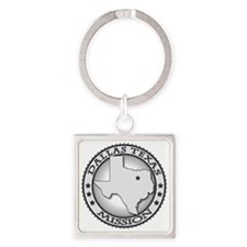 Dallas Texas LDS Mission Square Keychain