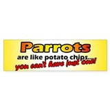Potato Chips Parrot Bumper Bumper Sticker