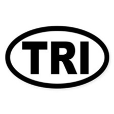 Triathlon Oval Decal