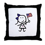 Girl & Democrat Throw Pillow