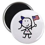 Girl & Democrat Magnet