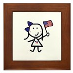 Girl & Democrat Framed Tile