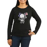 Girl & Democrat Women's Long Sleeve Dark T-Shirt