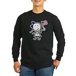 Girl & Democrat Long Sleeve Dark T-Shirt