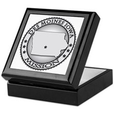 Des Moines Iowa LDS Mission Keepsake Box