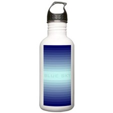 Blue sky ppost Water Bottle