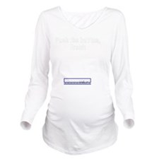 pushbutton Long Sleeve Maternity T-Shirt