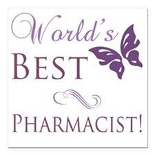 "Butterfly_Pharmacist Square Car Magnet 3"" x 3"""