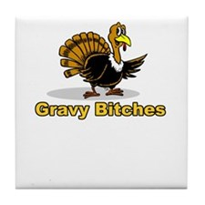 happy thanksgiving turkey day Tile Coaster