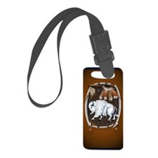 OvalJewel  White Buffalo Shield  Luggage Tag