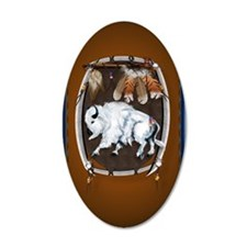 OvalJewel  White Buffalo Shi Wall Decal