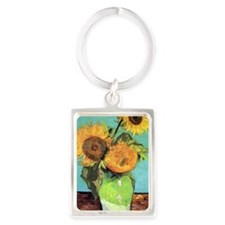 Journal VG 3 Sunflowers Portrait Keychain