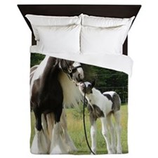 Dated with foal final Queen Duvet