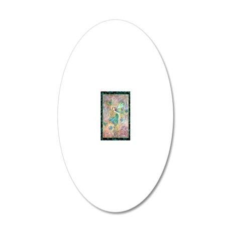 enchanted garden journal cp 20x12 Oval Wall Decal