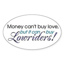 Lowrider car Oval Decal