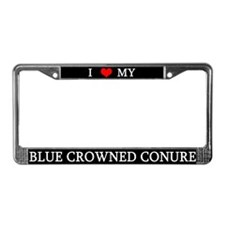 Love Blue Crowned Conure License Plate Frame