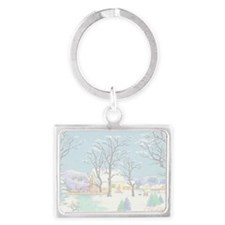 greeting_cards_4.5x6.5_inside_0 Landscape Keychain