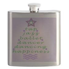 Dancers Christmas Tree Purple Flask