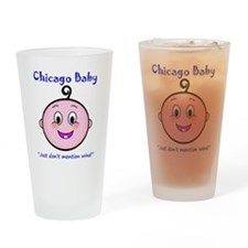 chicago_baby_blue_5x5 Drinking Glass