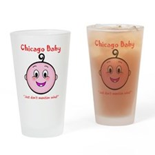 chicago_baby_red_5x5 Drinking Glass