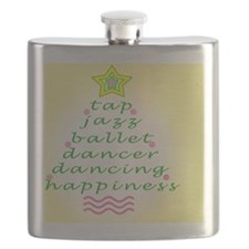 Yellow Dancers Christmas Tree Flask
