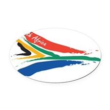 sa-flag-10-10 Oval Car Magnet