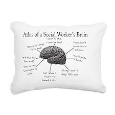 Atlas of a Social worker Rectangular Canvas Pillow