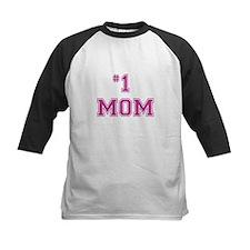 #1 Mom in dark pink Baseball Jersey