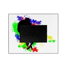 Graffiti Paint Splotches Skateboard Picture Frame
