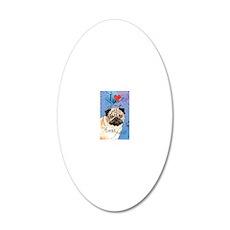 pug-slider1 20x12 Oval Wall Decal