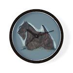 Scottish Terrier - Scotty Dog Wall Clock