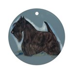 Scottish Terrier - Scotty Dog Ornament (Round)