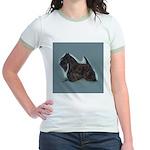 Scottish Terrier - Scotty Dog Jr. Ringer T-Shirt