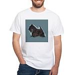 Scottish Terrier - Scotty Dog White T-Shirt