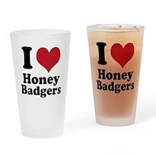 I Heart Honey Badger Drinking Glass