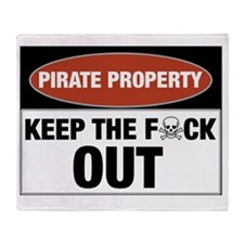 pirateproperty Throw Blanket