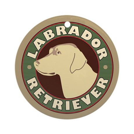 Yellow Lab Crest - Ornament (Round)