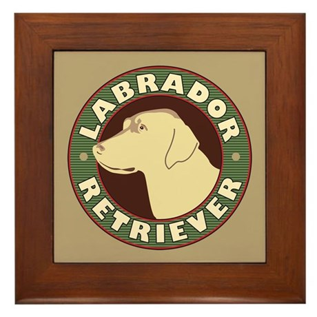 Yellow Lab Crest - Framed Tile