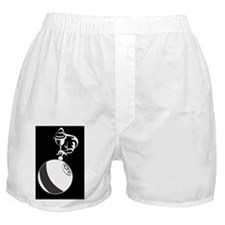 9Ball_Man_Dk_5x3oval_sticker Boxer Shorts