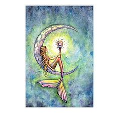 mermaid moon 9 x 12 cp Postcards (Package of 8)