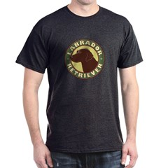 Chocolate Lab Crest - Dark T-Shirt