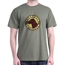 Chocolate Lab Crest - T-Shirt