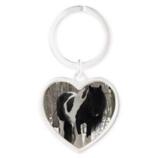 Novel Winter Sq Heart Keychain