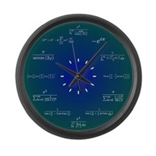 Math Clock Large Wall Clock