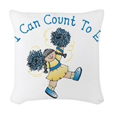 I can count to E Woven Throw Pillow