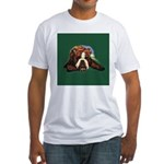 Brindle English Bulldog Fitted T-Shirt