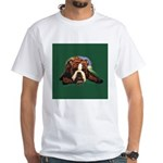 Brindle English Bulldog White T-Shirt