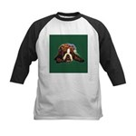 Brindle English Bulldog Kids Baseball Jersey