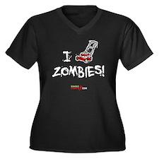 I_Lawnmower_ Women's Plus Size Dark V-Neck T-Shirt
