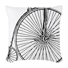 Penny Bike Woven Throw Pillow